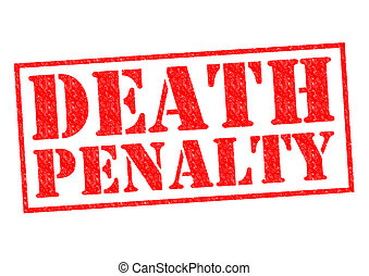 DEATH PENALTY red Rubber Stamp over a white background.