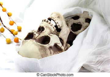 Death skeleton (grim reaper) - White colored image of Death...