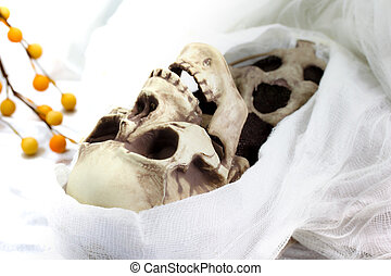 Death skeleton (grim reaper) - White colored image of Death...