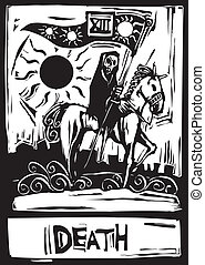 Death Tarot Card - The tarot card for death number thirteen.