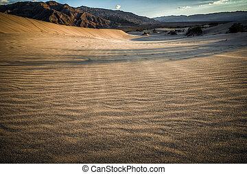Death Valley look into desert - Death valley look into...