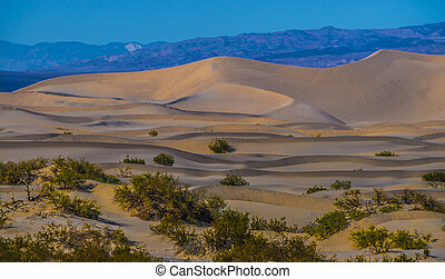 death valley national park sand dunes at sunset