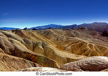 Death Valley National Park - Famous view over Death Valley...