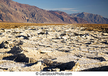 Death Valley Salt Flats - West Side Road from Badwater Basin