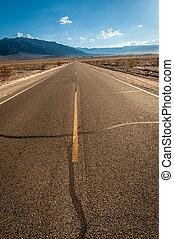 Death Valley street to nowhere - Death valley, desert street...