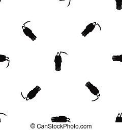 Death with scythe pattern seamless black