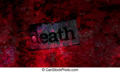 Death Word Looping Background