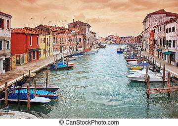deatil, γριά , architectureon, νησί , murano , μέσα , βενετία