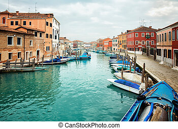deatil, altes , architectureon, insel, murano, in, venedig
