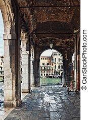 deatil, arquitectura vieja, en, venecia