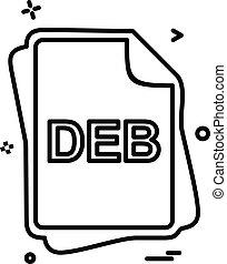 deb, pořadač, litera, ikona, design, vektor
