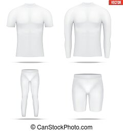 debajo, manga, camisa, thermo, compresión, largo, capa, tela