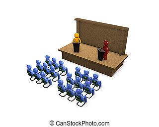 Debate - 3d image, Conceptual political debate