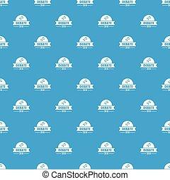 Debate pattern vector seamless blue