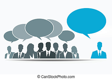 Debate - Different constructive opinion with blue speech...