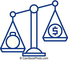 Debentures line icon concept. Debentures flat vector symbol, sign, outline illustration.