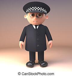 deber, ser, policía, estantes, servicio, ilustración, ...