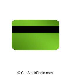 Debit Card - A illustration debit card reverse on a plain ...