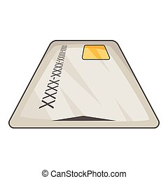 Debit card icon, cartoon style - Debit card icon. Cartoon...