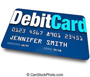 Debit Card Plastic Bank Charge Banking Account - A blue...