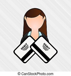 debit card user design, vector illustration eps10 graphic