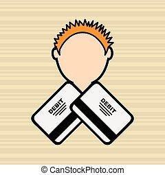 debit card user design, vector illustration eps10 graphic
