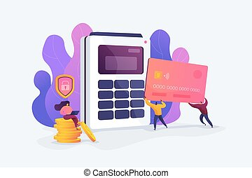 Debit card vector illustration.