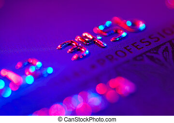 Debit Card With Colored Gel Lighting