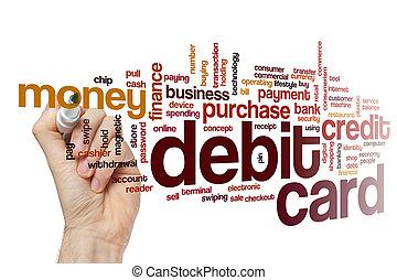 Debit card word cloud concept - Debit card word cloud
