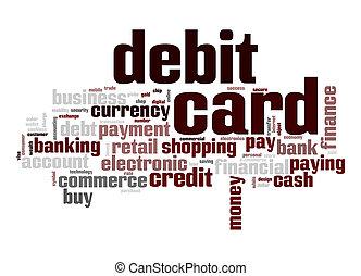 Debit card word cloud