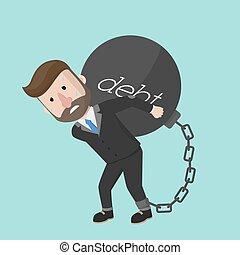 debito trasporto, bomba, uomo affari