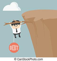 debito, uomo affari