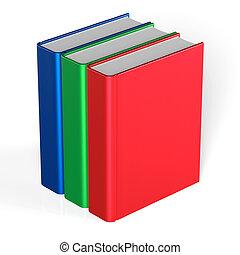 Debout Couverture Trois Manuel 3 Livres Vide Cahier D