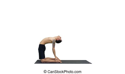 debout, pilates, sportif, fonctionnement, chameau, pose, ...
