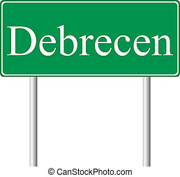 debrecen, verde, muestra del camino