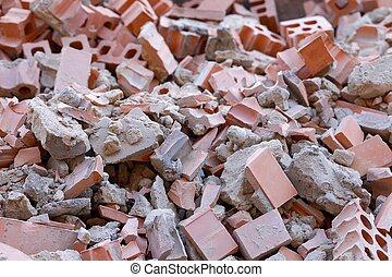 Debris - A pile of broken bricks