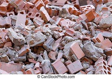 Debris - A pile of broken bricks