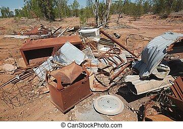 Debris junk pile