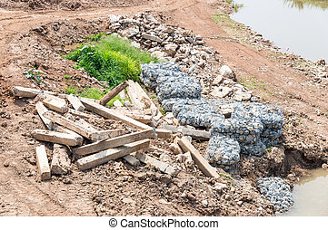 Debris of old dam