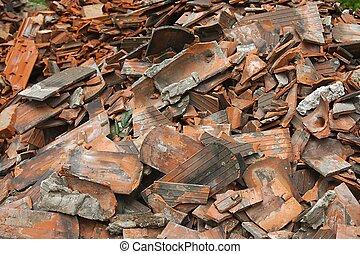 Debris pile closeup