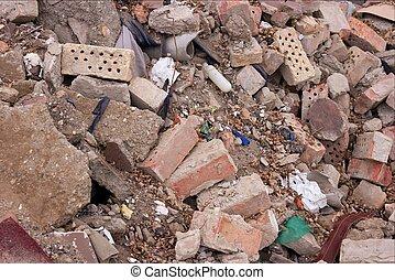 Debris - Pile of debris of a ruined building