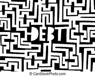 Debt as a complex maze or problem
