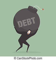 Debt. Business concept illustration.