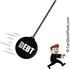 Debt businessman