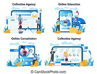 Debt collector online service or platform set. Pursuing ...