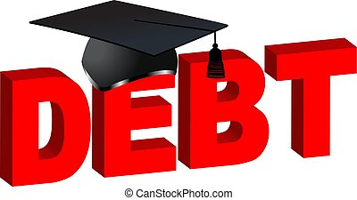 Debt college hat