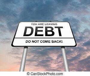 Debt concept.