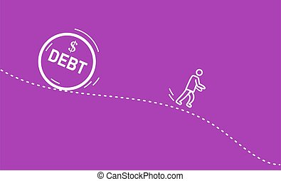 debt., correndo, uomo, lontano, enorme