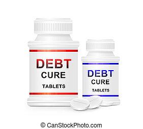 Debt cure concept. - Illustration depicting two medication ...