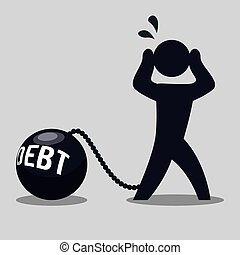 debt design  - debt graphic design , vector illustration